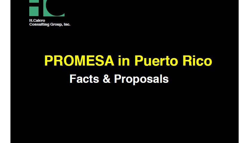 Promesa in Puerto Rico: Facts and Proposals
