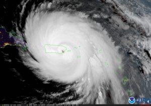 Hurricane María over Puerto Rico