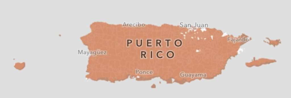 Puerto Rico Opportunity Zones Map